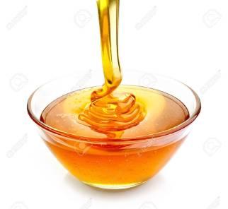 42655181-bol-de-verser-le-miel-isolé-sur-fond-blanc